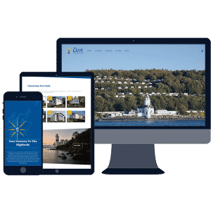 responsive website design for cloch caravan holiday park