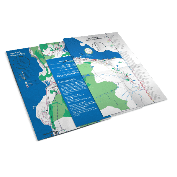 design of illustrated maps for Inverclyde Community Tracks