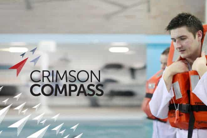 crimson compass brand imagery