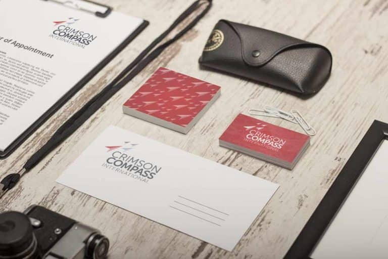 Brand identity on business stationery