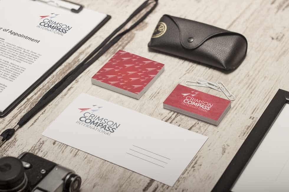 Brand identity on business stationery