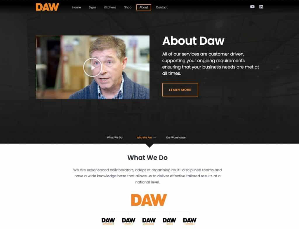 Design of website for Glasgow business