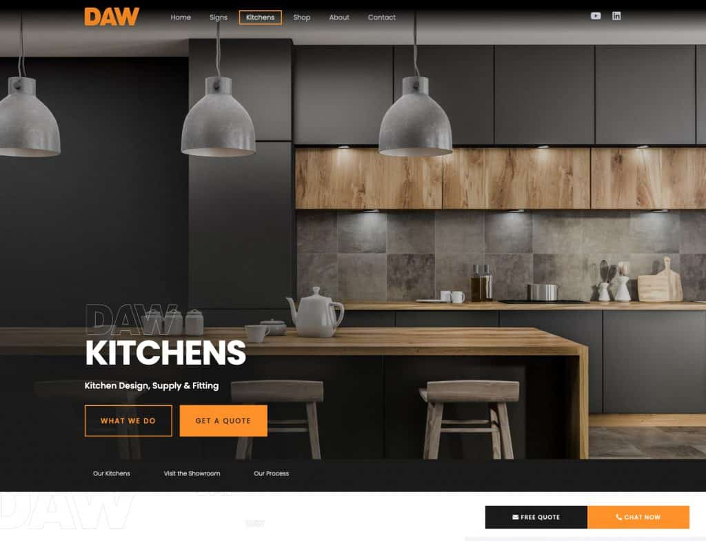 Website for Kitchen showroom business in Glasgow