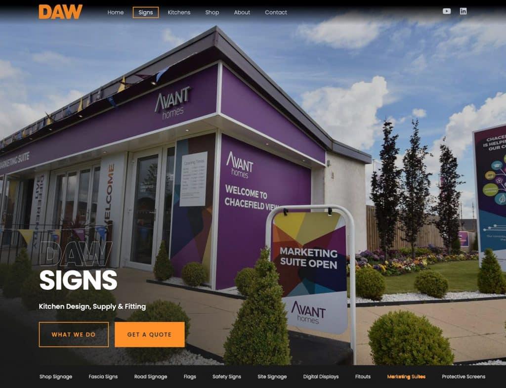 website navigation for glasgow business