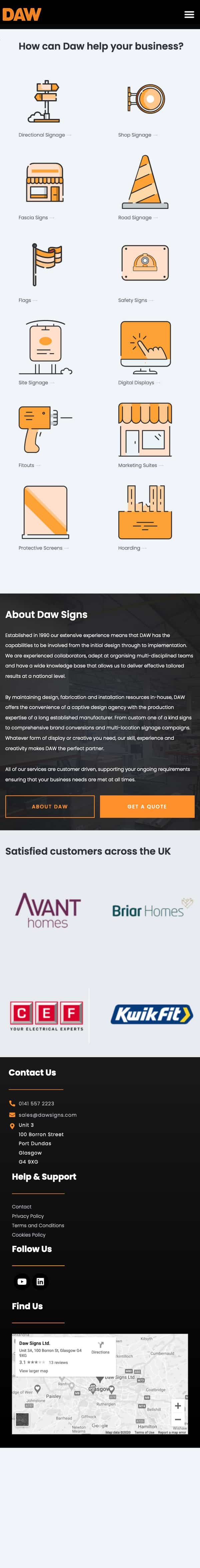 Mobile website design in Glasgow