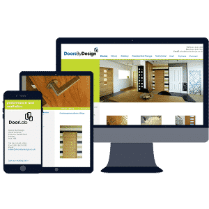 responsive website design for door manufacturer