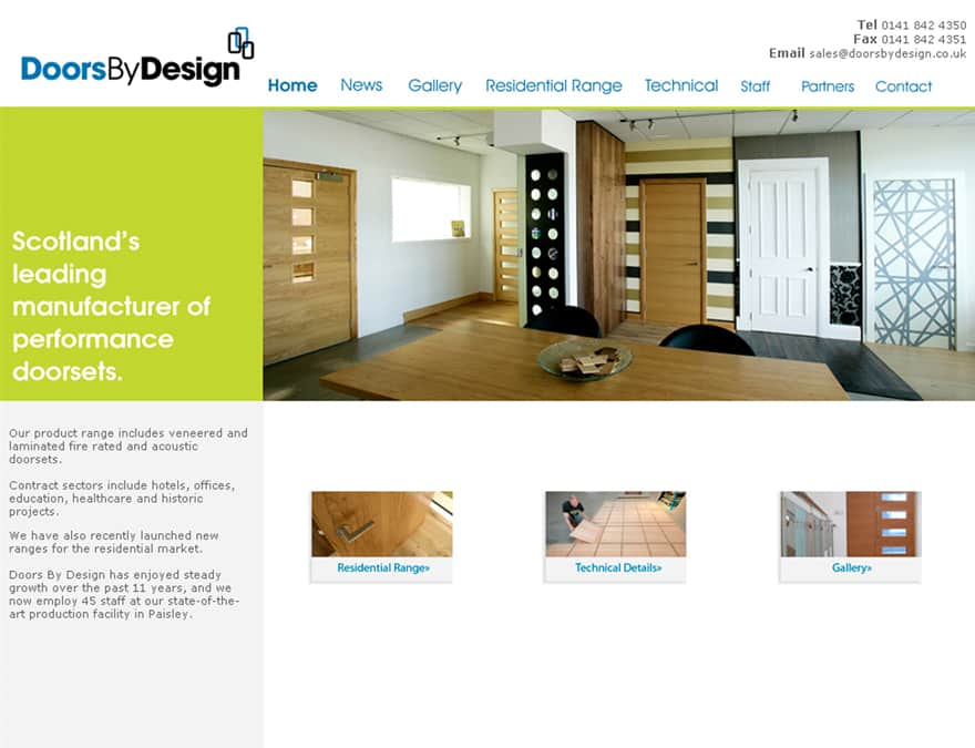 Product gallery for website