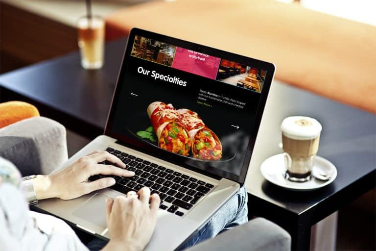 design of brochure website for fresh bistro