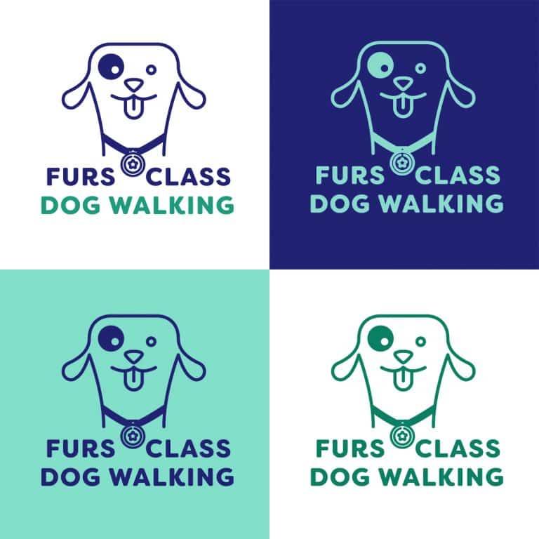 design of branding for dog walkers