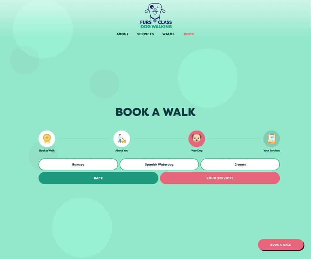 dog walkers website