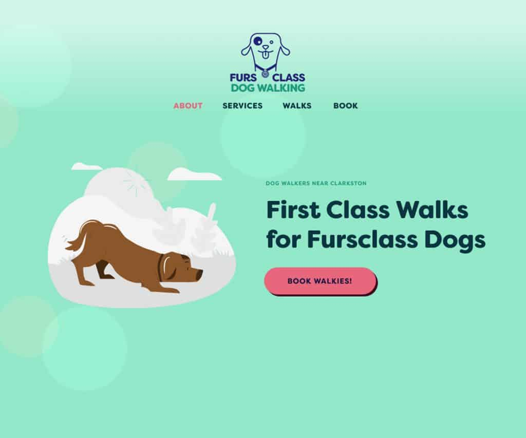 web designers for dog walkers