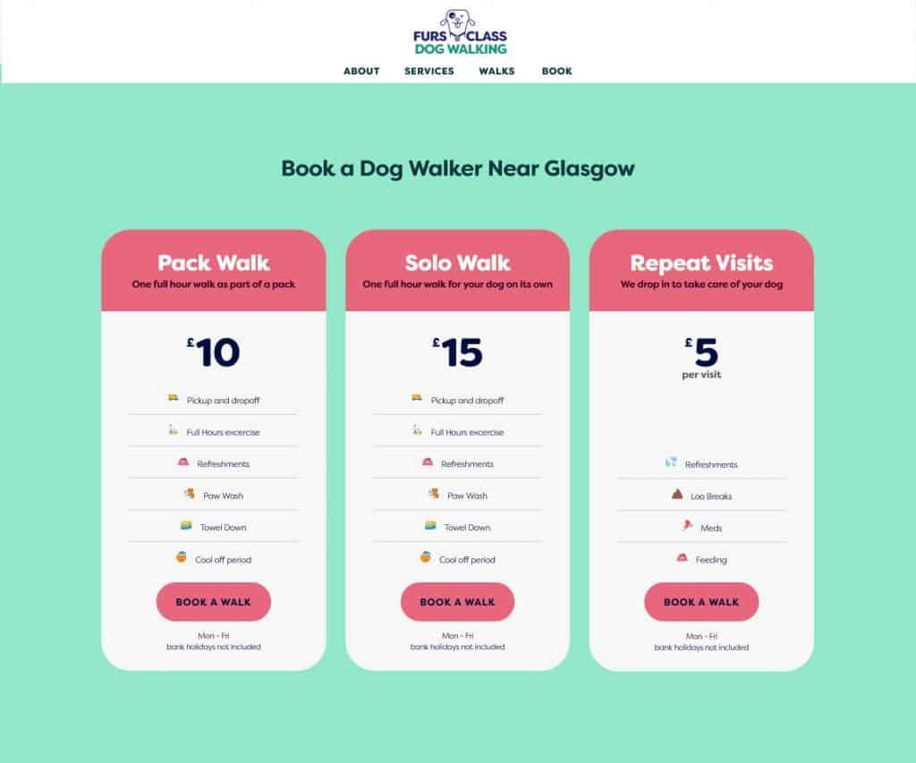 websites for dog walkers