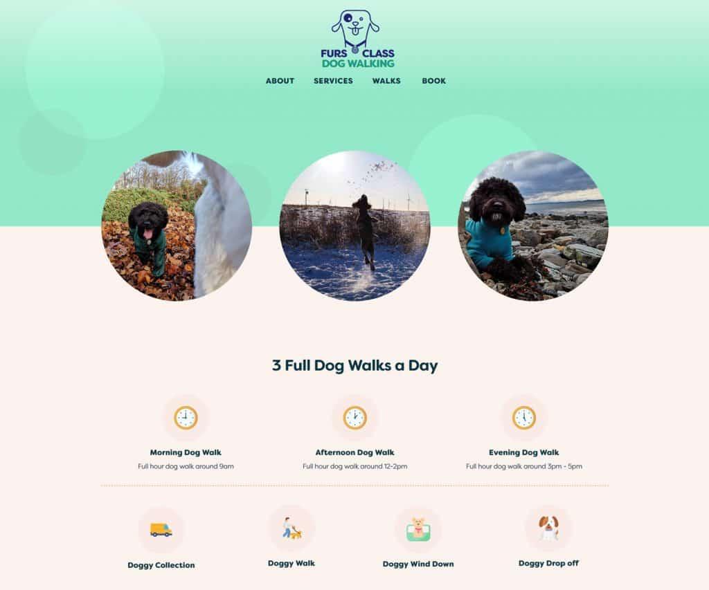 booking website design for dog walkers