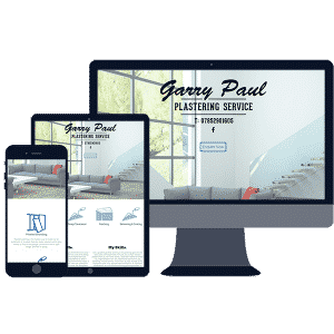 responsive website design for local plasterer business