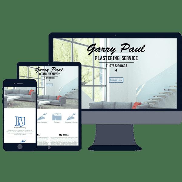 responsive website design for local plasterer business