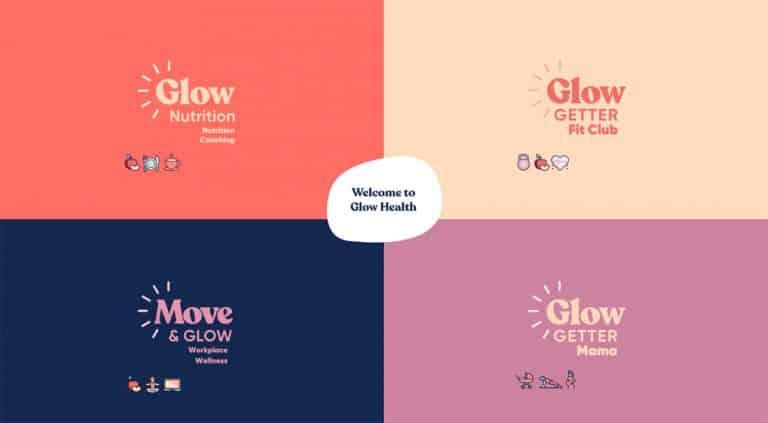 logo design for Glowgetter sub brands