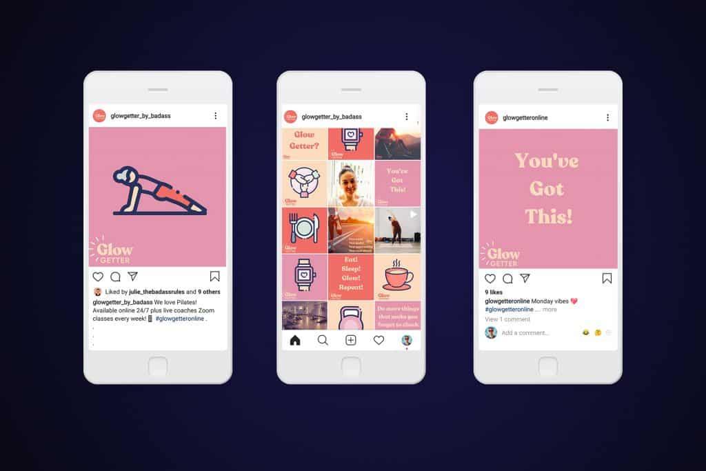 Design of social media assets for instagram