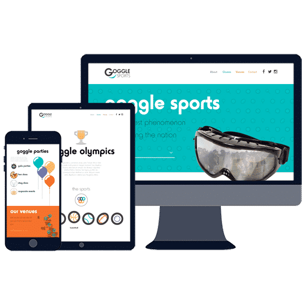 responsive website design for sports booking website