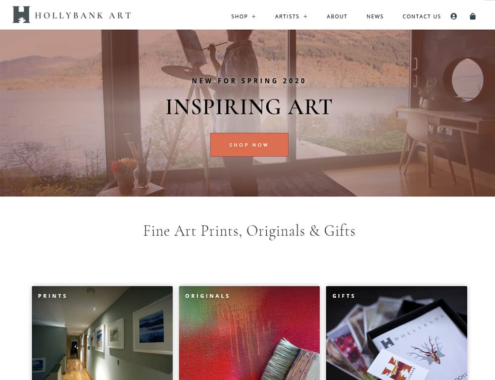 Landing page for E-Commerce website