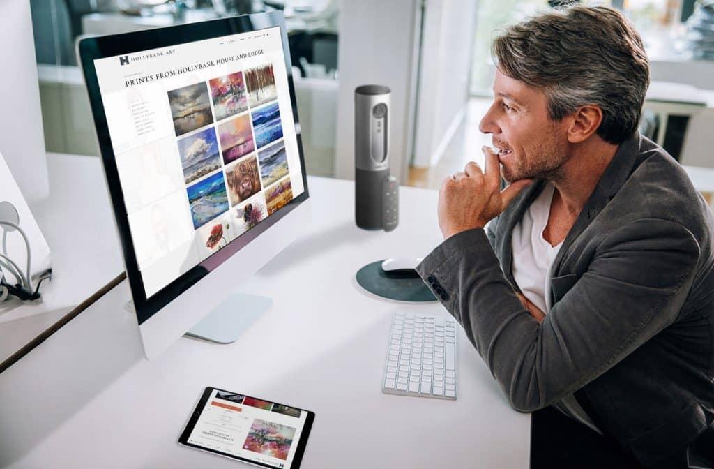 Design of gallery website on mac