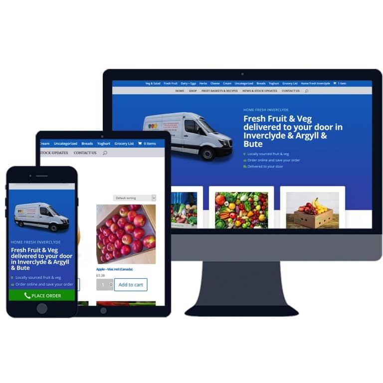 E-Commerce website design in Inverclyde