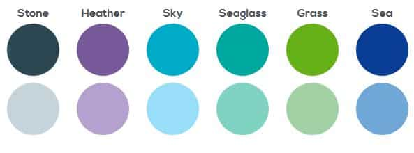 Colour scheme for Isle of Mine Brand