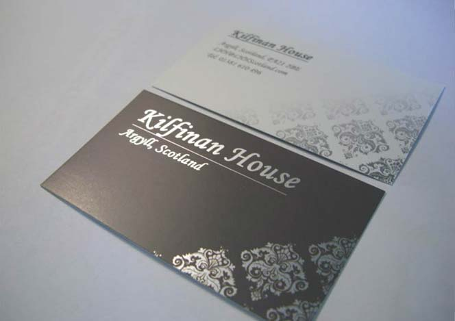 Business Card design for Kilfinan House