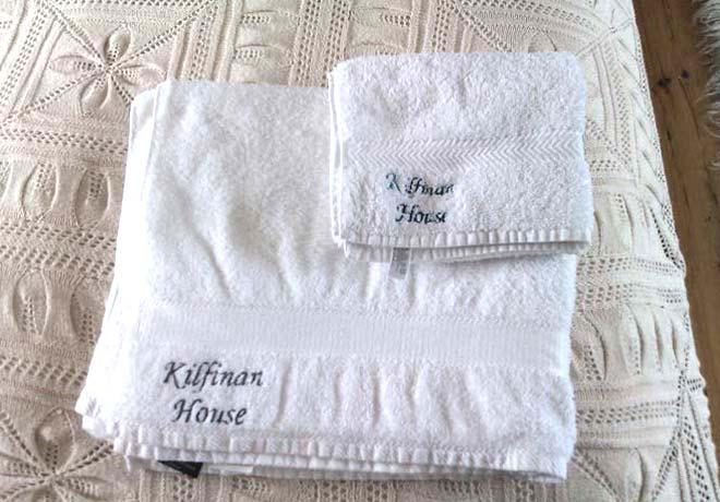 branded linendesign for Kilfinan House