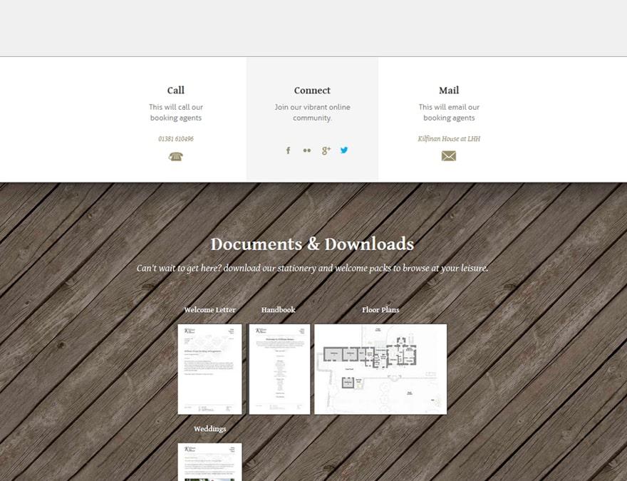 downloads management for hotel website design