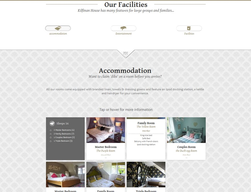 features for hotel website design