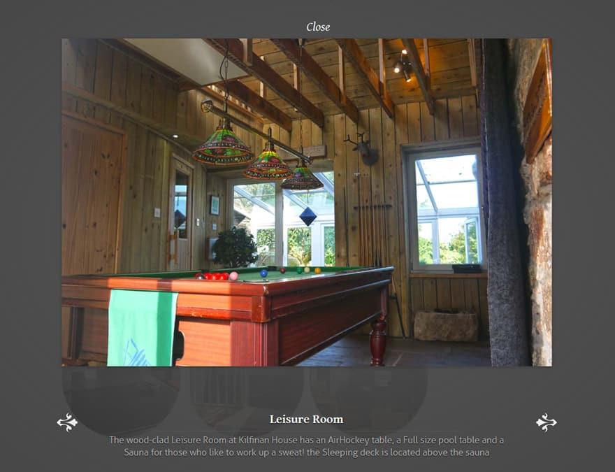 media gallery for hotel website design