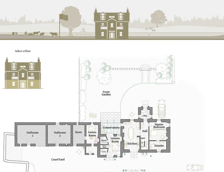 Floorplans for hotel website design