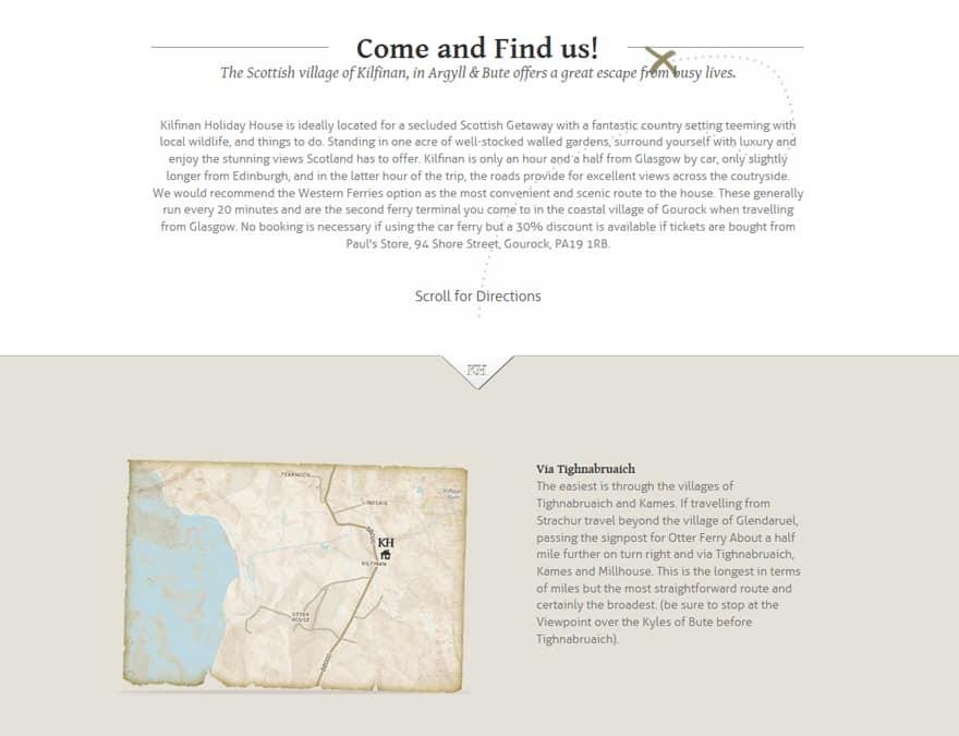 Directions for hotel website design