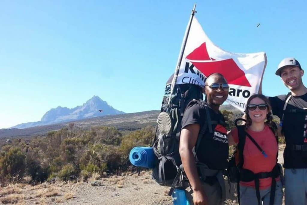 branded flags for Kilimanjaro Climbing Company