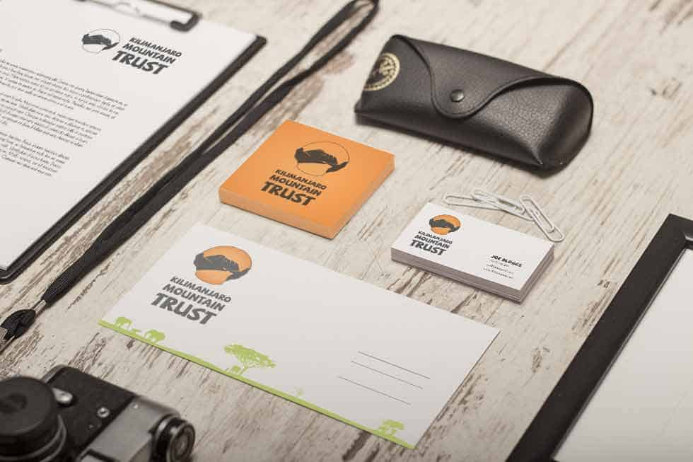 branded stationery design for Kilimanjaro Mountain Trust