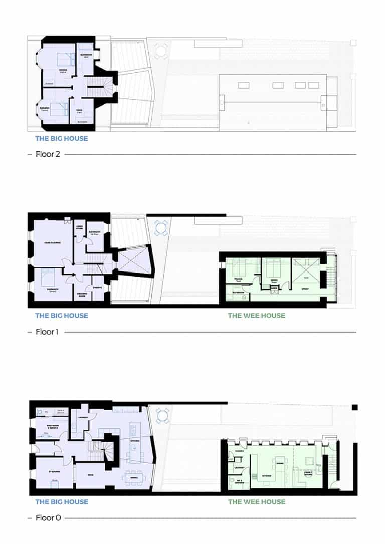 custom illustration of floorplans for holiday house
