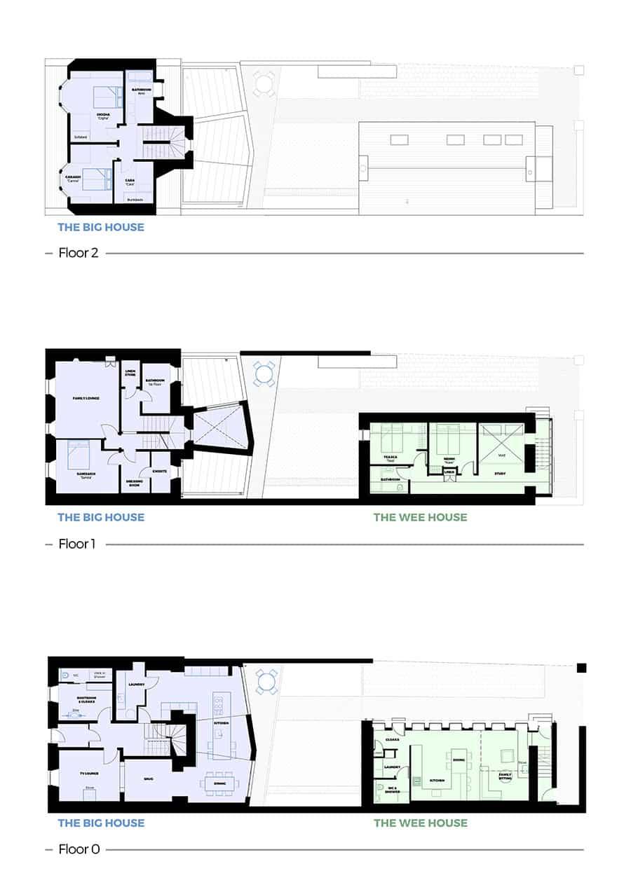 custom illustration of floorplans for holiday house