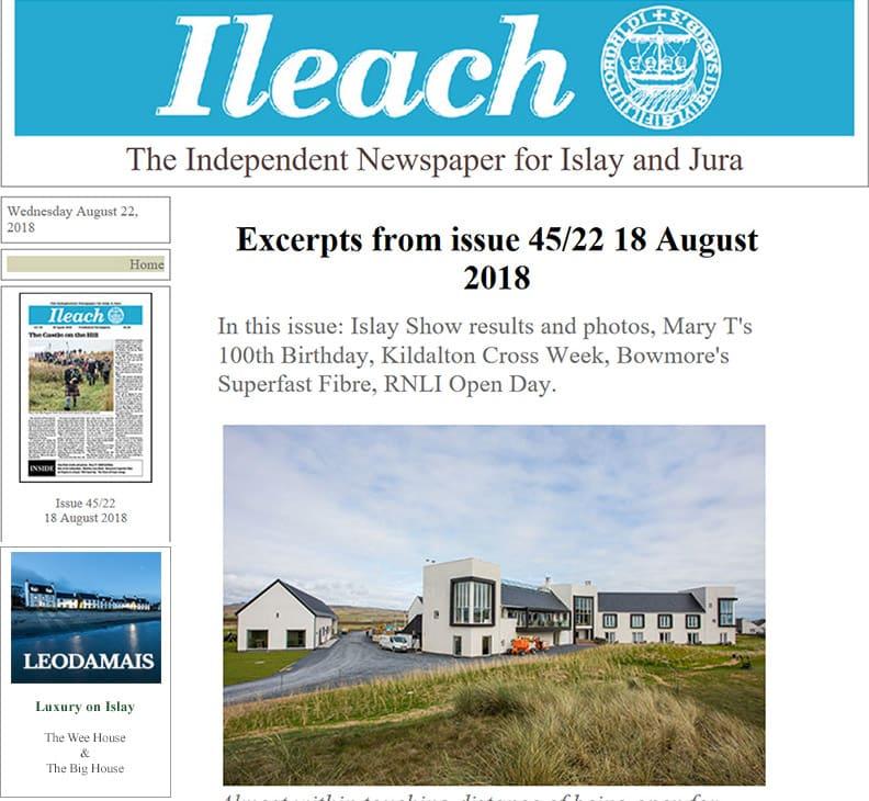 Ileach online newspaper ad
