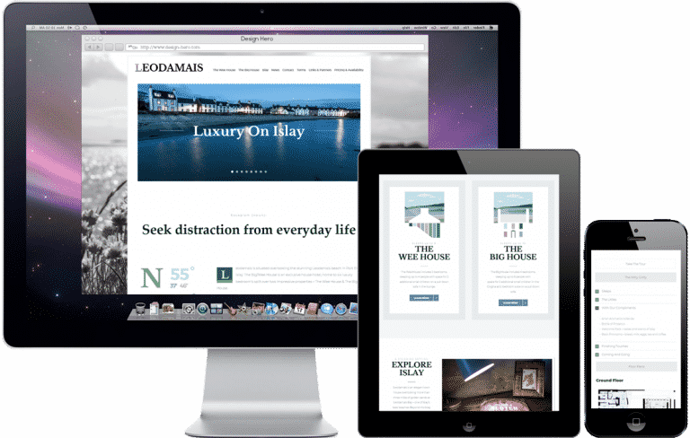 responsive website design for booking website