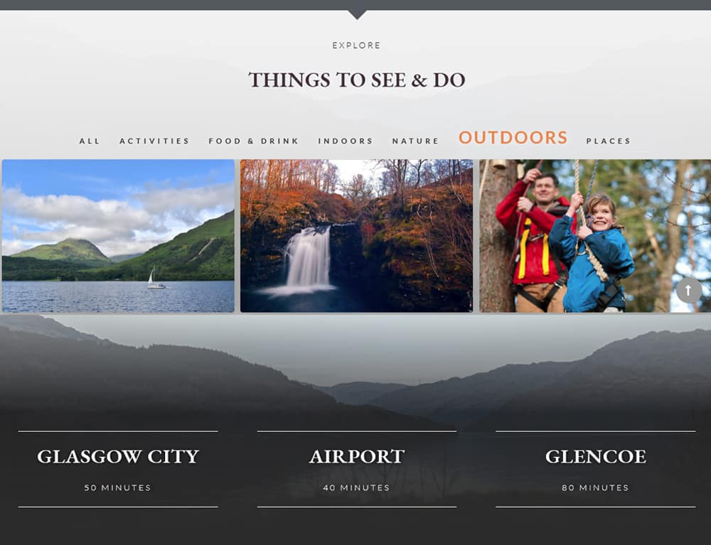 things to do for self catering accommodation website