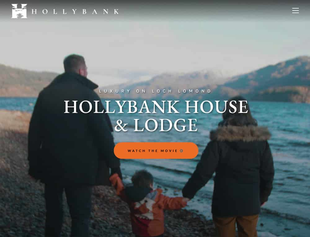 integrated full screen video for self catering holiday accommodation website