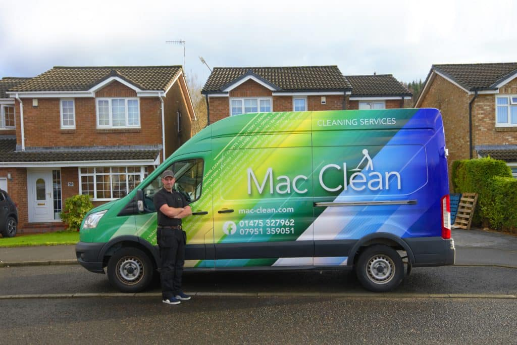 web design for cleaning business in Greenock