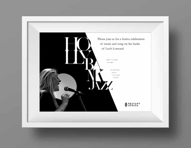 design of posters for musicians brand