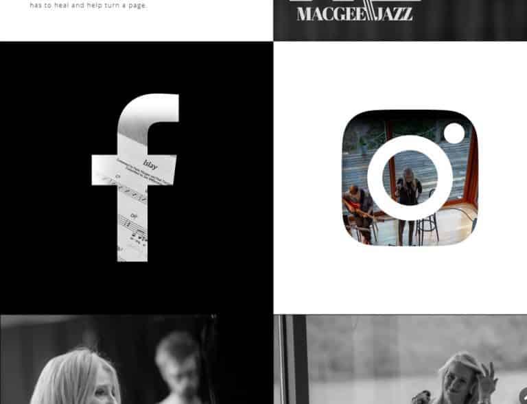 social media integration for profile website