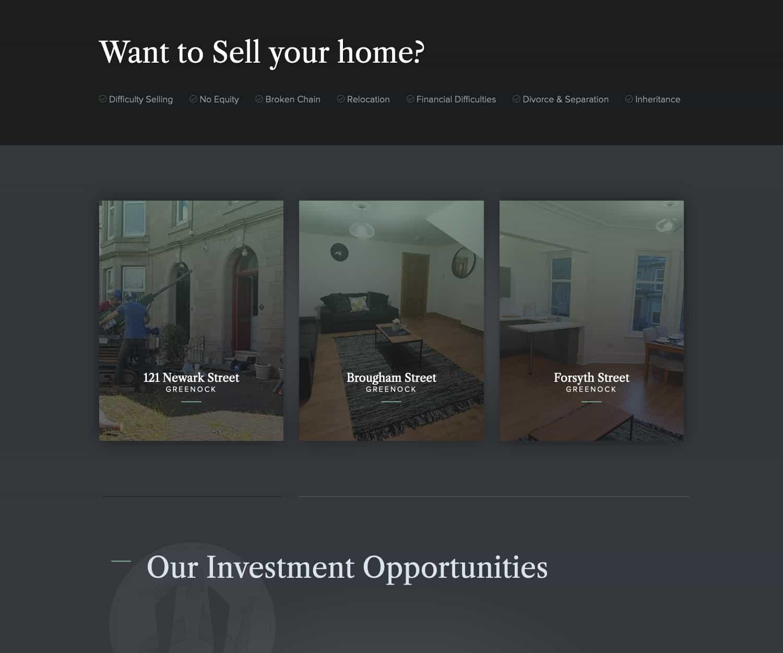 website design for property real estate business in Greenock