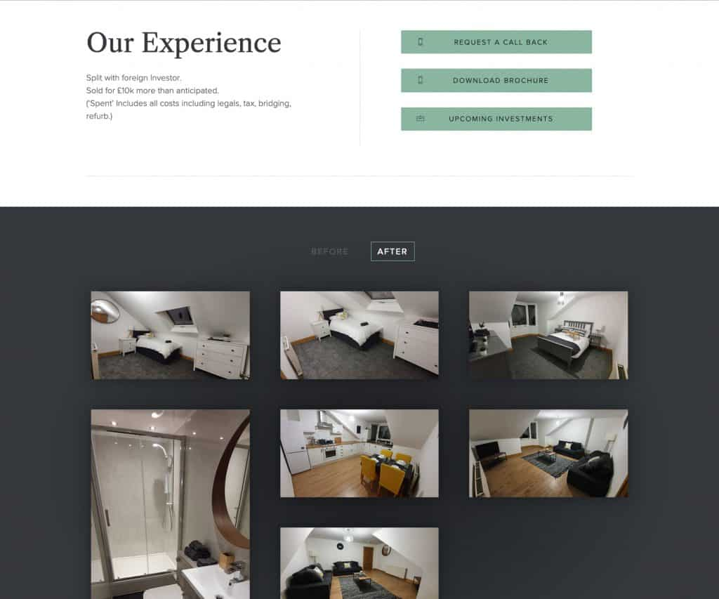 website gallery for property real estate business in Greenock