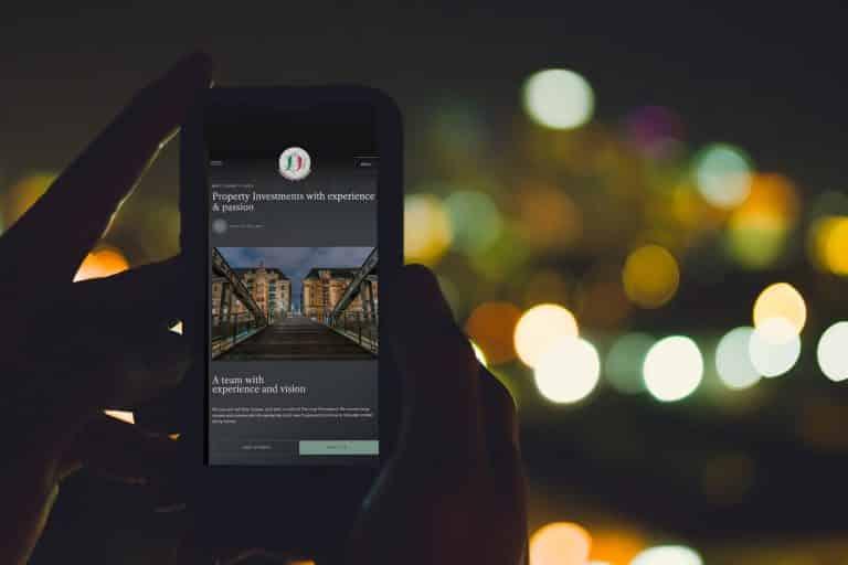 mobile website design for business website