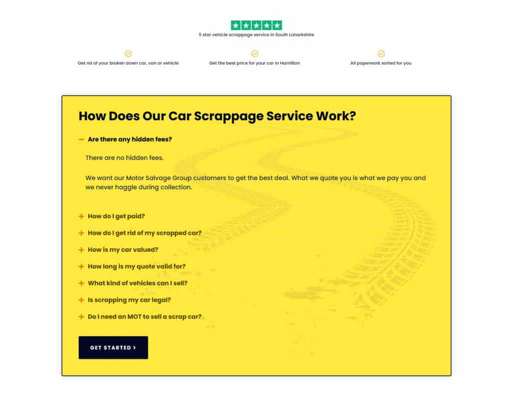 Web design for car business