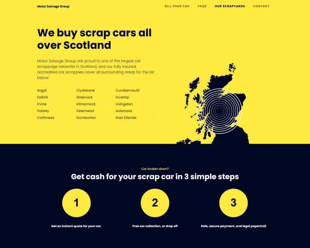 motoring website design in Scotland