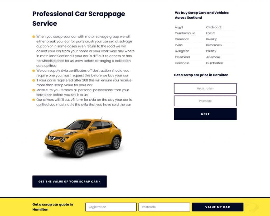 website for car business